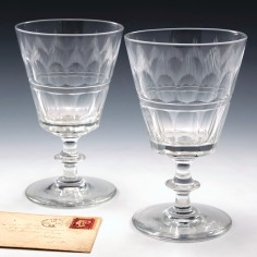 A Pair Of Edwardian Glass Rummers c1905