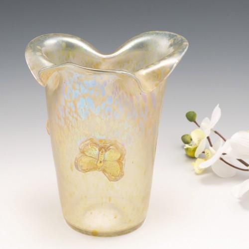 Signed Loetz Candia Papillon Iridescent Vase c1910