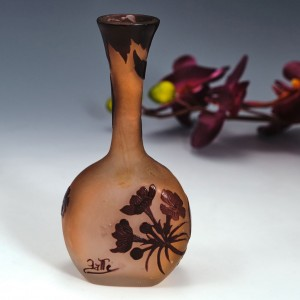 A Small Galle Cameo Glass Vase c1900