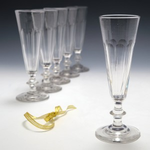 Set Six French Champagne Flutes