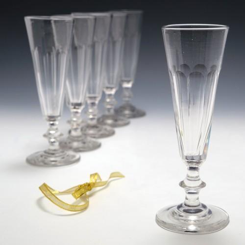 Set Six French Champagne Flutes