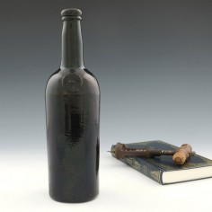 Honourable Society Of The Middle Temple Sealed Wine Bottle c1835