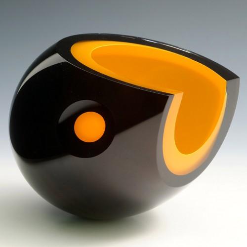 A Studio Glashyttan Ahus Spacebird Glass Sculpture 2020
