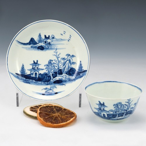 Very Rare Vauxhall Tea Bowl and Saucer 1755-60