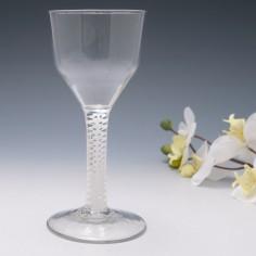 Very Large Georgian Opaque Twist Wine Goblet c1760