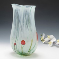 A Tall British Studio Glass Vase By Siddy Langley