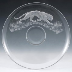 Michael Fairbairn Engraved Stuart Crystal Jubilee Dish 1977