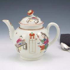 Worcester Porcelain Mandarin  Pattern Teapot c1775