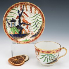 A Coalport Porcelain Tea Cup and Saucer c1805