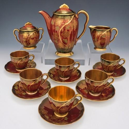 Carlton Ware Rouge Royale Coffee Set