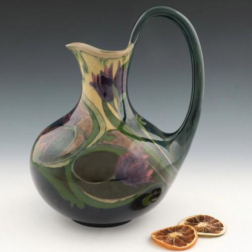 Art Nouveau Gouda Pottery Jug c1905