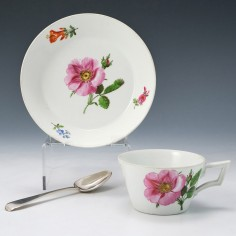 Meissen Marcolini Period Cup and Saucer c1800