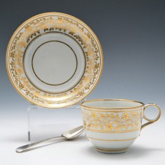 Flight and Barr Worcester Porcelain Teacup and Saucer c1800