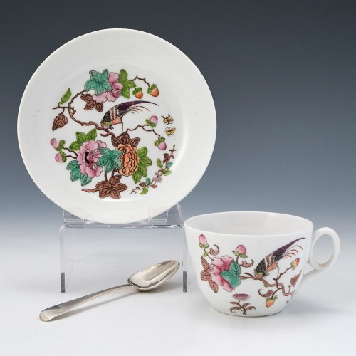 New Hall Porcelain Pattern 1511 Teacup and Saucer c1825