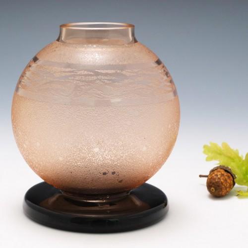 Schneider Verre Francais Glass Ball Vase c1930