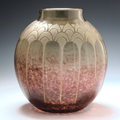 Deco Schneider Amethyst Glass Vase 1928-1930