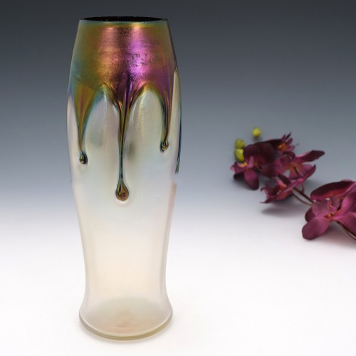 Pallme-Konig Habel Iridescent Glass Vase c1915