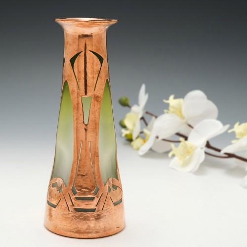 Secessionist Copper Overlay Vase c1905