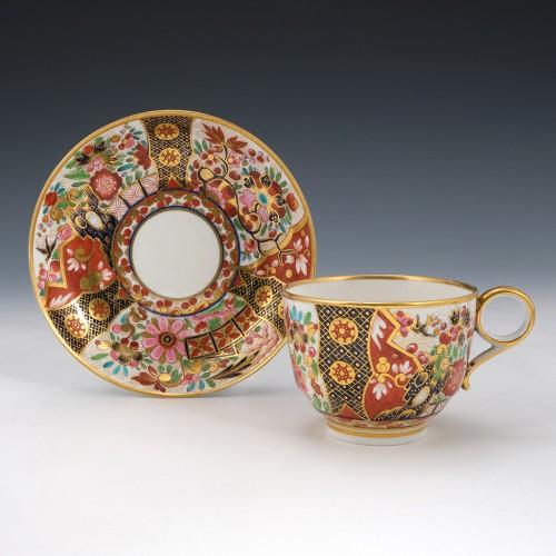 Barr Flight Barr Japan Pattern Tea Cup and Saucer  c1805