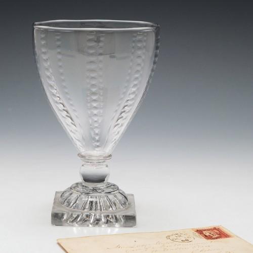 Georgian Glass Rummer Lemon Squeezer Foot c1800