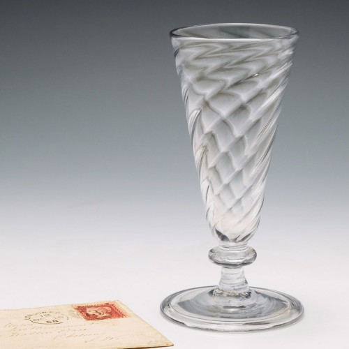 Wrythen Moulded Georgian Ale Glass c1750