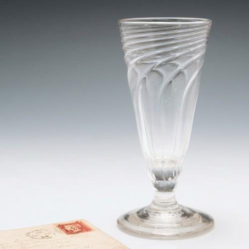 Georgian Wrythen Moulded Ale Glass c1765