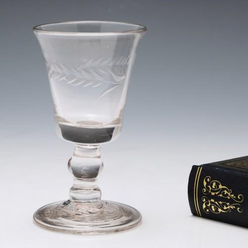 Folded Foot Gin Glass c1800
