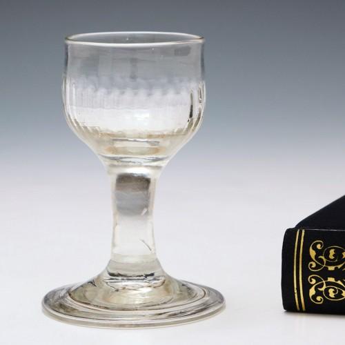 Folded Foot Georgian Dram Glass c1750
