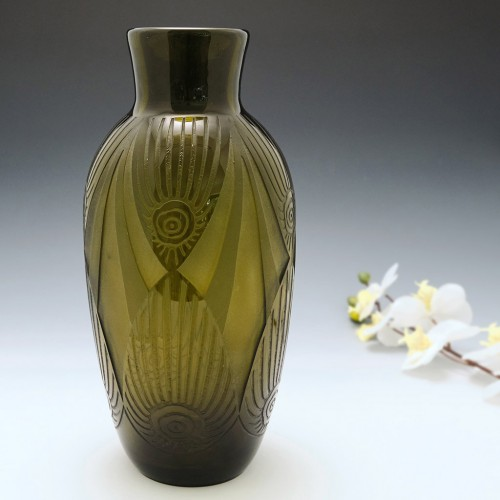 A Tall Art Deco Vase By Legras c1930
