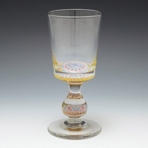 Concentric Millefiori Glass Goblet c1900