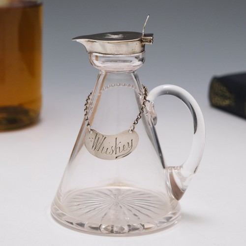 Silver Topped Whiskey Noggin Hukin and Heath 1906