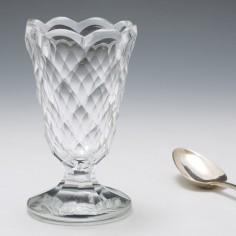 Georgian Facet Cut Syllabub Or Jelly Glass c1805
