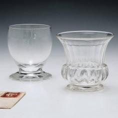 Two Victorian Dram Glasses