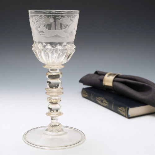 Bohemian Engraved Wine Goblet c.1690