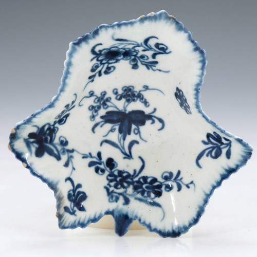 First Period Worcester Porcelain Pickle Dish c1765