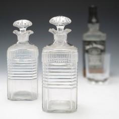 Pair Regency Period Pint Decanters c1820