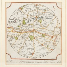 Print: The Environs Of Tunbridge Wells Within Twelve Miles c.1820