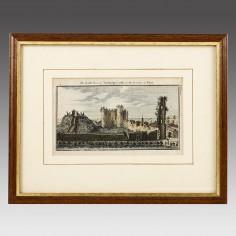 Framed Print South View of Tonbridge Castle 1769