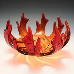 Modernist Murano Glass Flame Sculpture