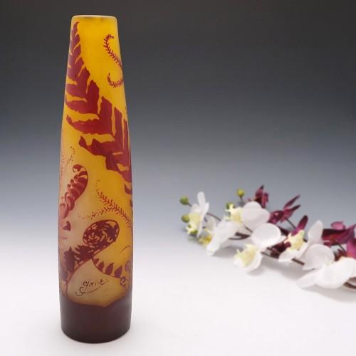 Galle Vase With Aquatic Plants c1900