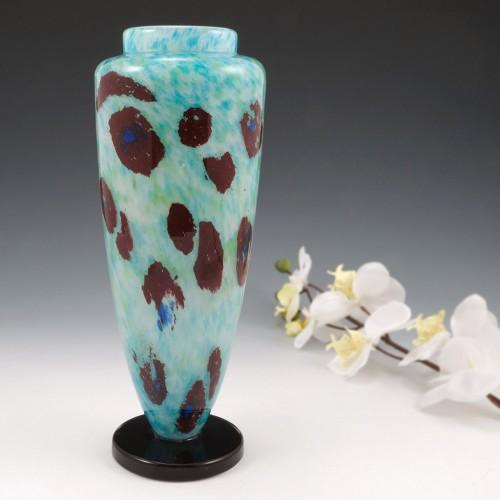 Schneider Pate De Verre Jade Vase 1927-29
