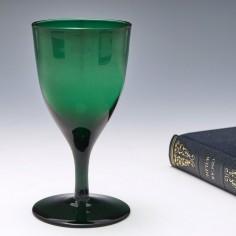 Bristol Green Wine Glass c1840