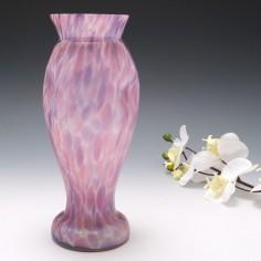 A Frank Welz Mottled Cased Glass Vase c1920