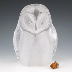 A Large Mats Jonasson Owl Sculpture for Maleras