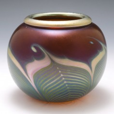 """A Signed Correia Glass Artist Proof  Vase """"Hawaii"""" 1980. Was £250"""