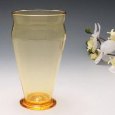A Whitefriars Gold Amber Vase Pattern 3000  c1920