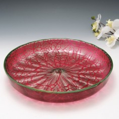 A  Loetz Titania Red and Silver Bowl c1900