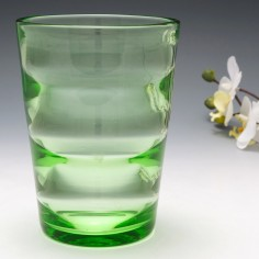 A Uranium Glass Internal Ribbed Vase c1940