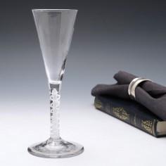 Georgian Mixed Twist Stem Glass c1765