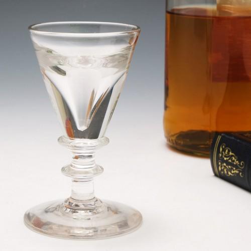 Deceptive Bowl Georgian Dram Glass c1820